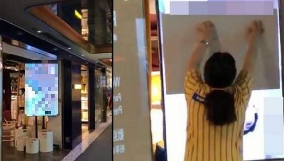 Tienda ofrece disculpas por proyectar por error un video para adultos en uno de sus locales