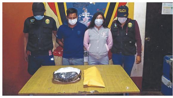 ordi Joel Peña Valladolid y Yosely Marchán Ramírez son investigados por el presunto delito de tráfico ilícito de drogas.