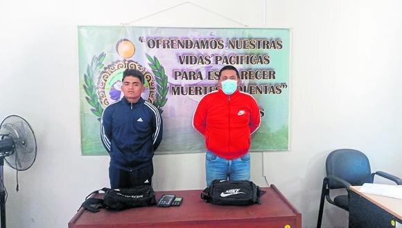 Danilo Valverde y Heder Valeriano cayeron cuando caminaban por el distrito de La Esperanza.