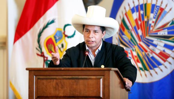 Pedro Castillo viajó a México y Estados Unidos, lo que constituye su primera salida del país como jefe de Estado. (Foto: Presidencia)