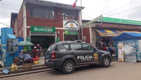 Presunto agresor fue trasladado hasta la dependencia policial. (Foto: Difusión)
