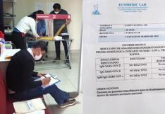 Allanan laboratorio que entregaba pruebas COVID-19 sin extraer muestras a pacientes en Cusco