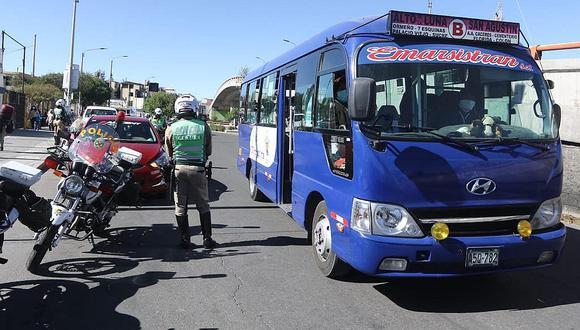 No habrá transporte por dos semanas en Arequipa