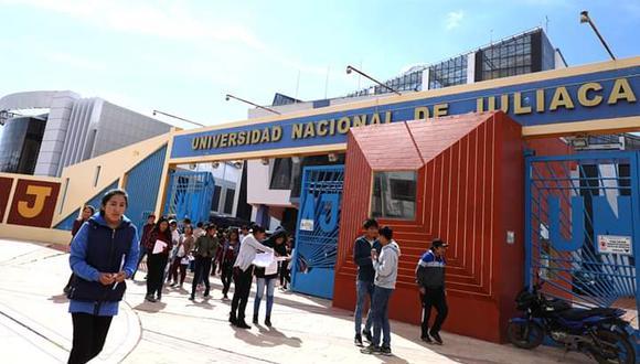 La casa de estudios de la ciudad de Juliaca se prepara para las pruebas de ingreso.