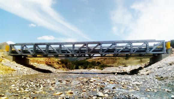 La Libertad: La inversión para la instalación de los 18 puentes modulares bordea los S/ 23 millones. (Foto: MTC)