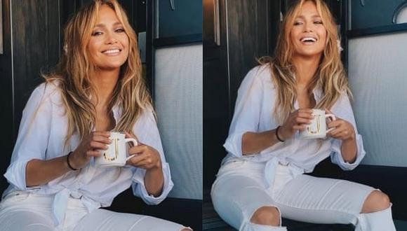 Jennifer Lopez y el rapero Rauw Alejandro ruedan un video clip en Miami Beach. (Foto: @jlo / Instagram)