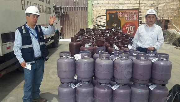 Balones de gas deben contar con rótulo para ser comercializados