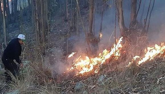 Cajamarca: Logran extinguir incendio forestal que empezó hace dos días