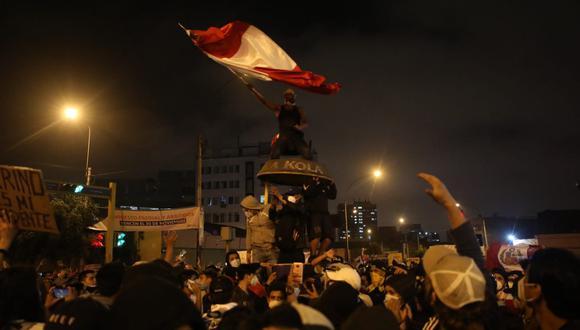 Este último jueves se realizó la marcha nacional contra la presidencia de Manuel Merino.