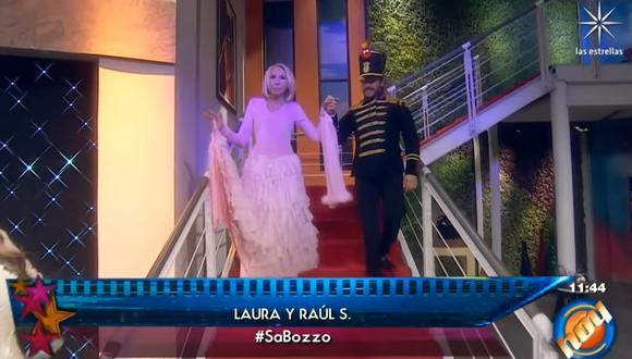 Laura Bozzo en el programa 'Las estrellas bailan hoy', que se difunde por Televisa.   Foto: Las Estrellas