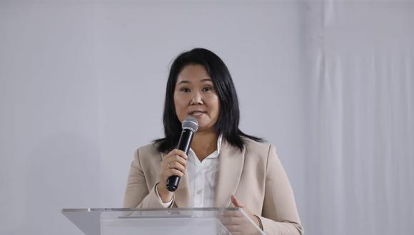 La lideresa del partido político Fuerza Popular, Keiko Fujimori, anunció que reconocerá los resultados de la segunda vuelta. (Foto: Hugo Perez / @photo.gec)