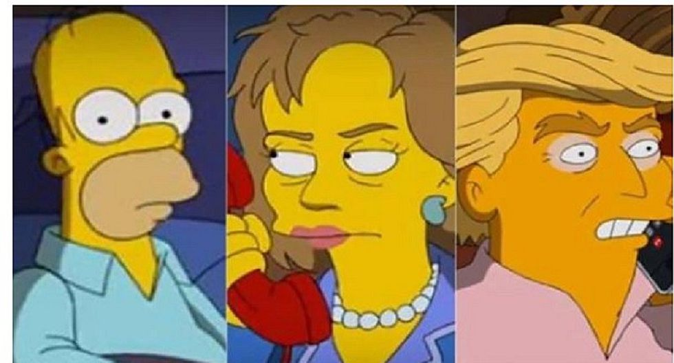 Homero Simpson decidió por quién votará: ¿Clinton o Trump? (VIDEO)