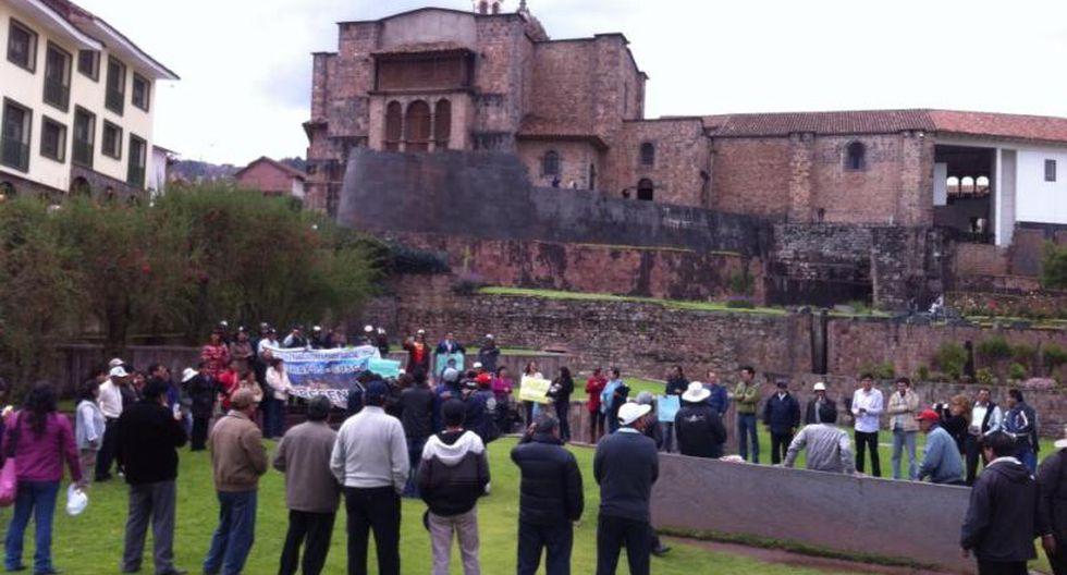 Trabajadores del PJ toman el Qorikancha en Cusco