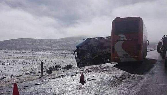 Nevadas ocasionaron diez accidentes de tránsito en la región Puno