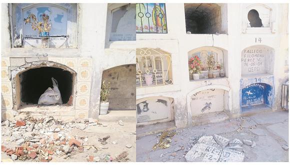 Desconocidos profanan tres tumbas en el cementerio del distrito azucarero de Tumán