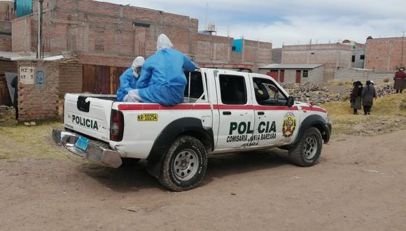 El personal de la policía especializada y el equipo humanitario recogieron el cadáver. (Foto: Difusión)