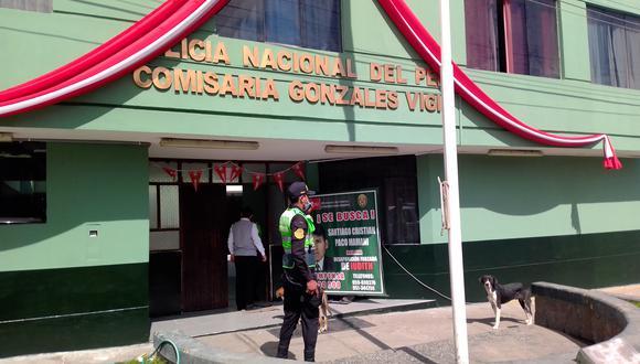 Hasta la comisaría Gonzales Vigil llegó el herido con arma blanca. (Foto: Difusión)