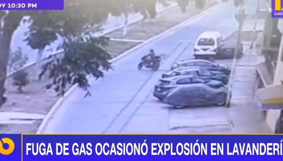 Explosión en lavandería de Bellavista. (Captura Latina)