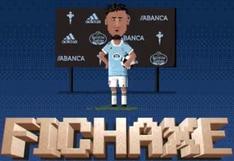 Renato Tapia presentado como un videojuego por Celta de Vigo (VIDEO)