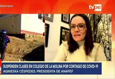 Reportan suspensión de clases semipresenciales en colegio de La Molina tras contagio de COVID-19 de dos niños