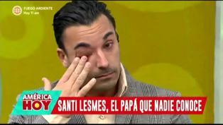 """Santi Lesmes lloró porque hace 15 años no celebra el Día del Padre con sus hijos: """"Me pregunto si soy un buen padre"""""""
