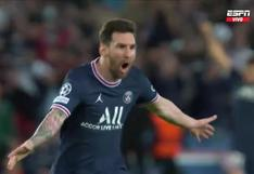 Lionel Messi: así fue el primer gol del argentino con PSG para el 2-0 sobre Manchester City en Champions League (VIDEO)