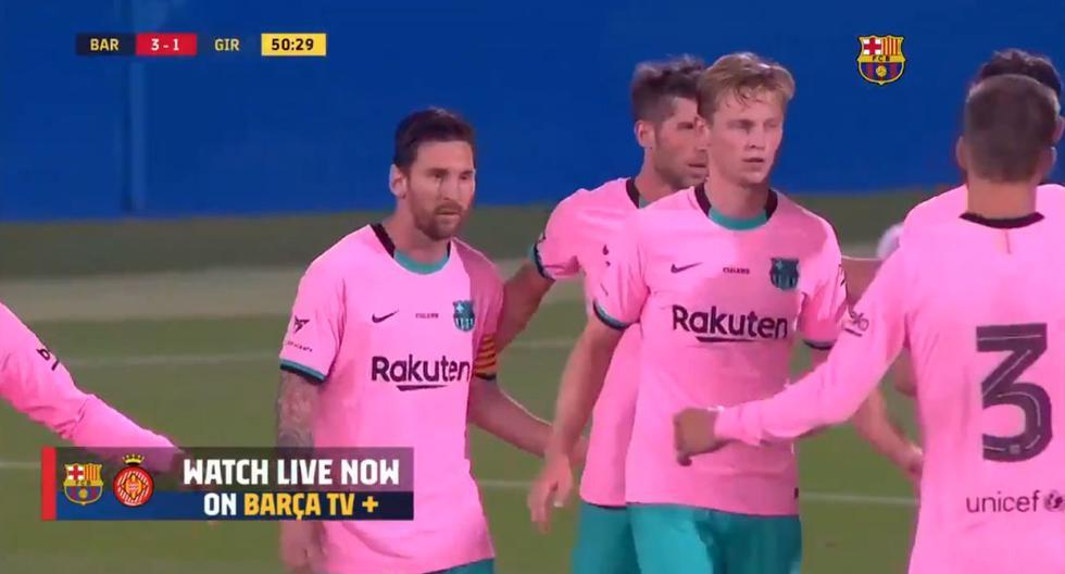 Lionel Messi anota doblete y el 3-1 de Barcelona ante Girona | VIDEO