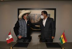 Pedro Castillo y su homólogo de Bolivia abordaron gestiones para realizar el Gabinete Binacional
