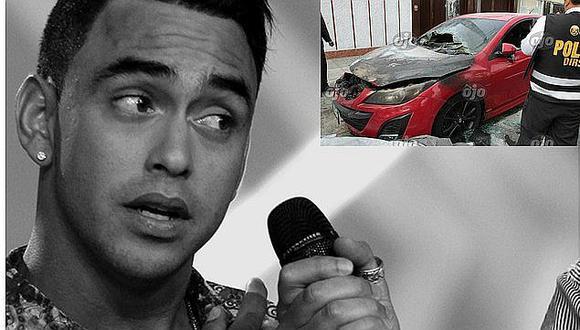 Diego Chávarri pone en venta su carro incendiado a este increíble precio (FOTOS)