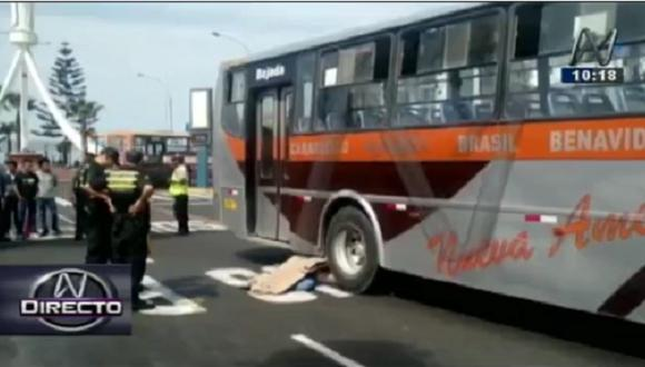 Magdalena: Hombre muere tras ser atropellado por bus en la avenida Brasil