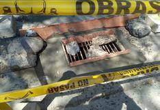 Municipio de Huánuco repone tapas de buzones que fueron robadas y otras que están deterioradas