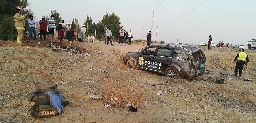 Un policía muerto y otro herido deja despiste y vuelco de patrullero en la Costanera