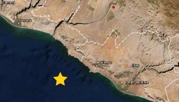 Sismo de 4.1 grados de magnitud remece parte de la costa de Arequipa