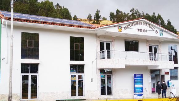 Junín: un total de 12 fotoceldas fueron instaladas en el techo de la municipalidad distrital de Ingenio, en Huancayo. (Foto: Andina)