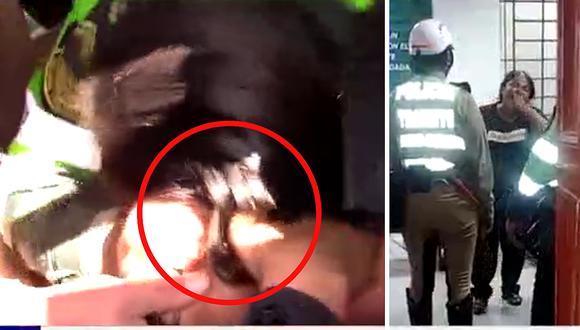 Huancayo: Ambulante jaló de los pelos a mujer policía para evitar decomiso de su carretilla (VIDEO)