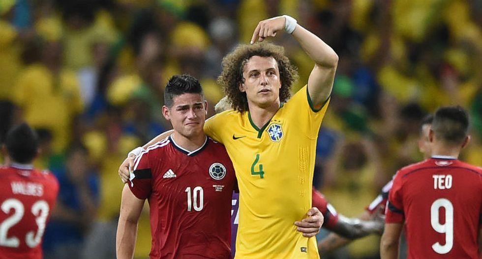 James Rodríguez reveló lo que le dijo David Luiz en Brasil 2014