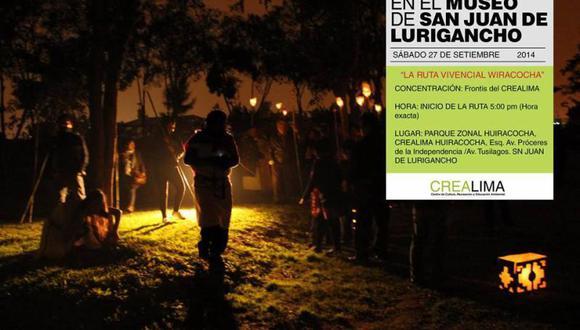 """Este sábado SJL vivirá """"Una noche en el museo"""" con """"Ruta Vivencial Wiracocha"""""""
