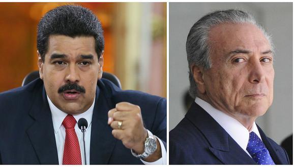 """Nicolás Maduro llama """"sicario"""" a Michel Temer"""