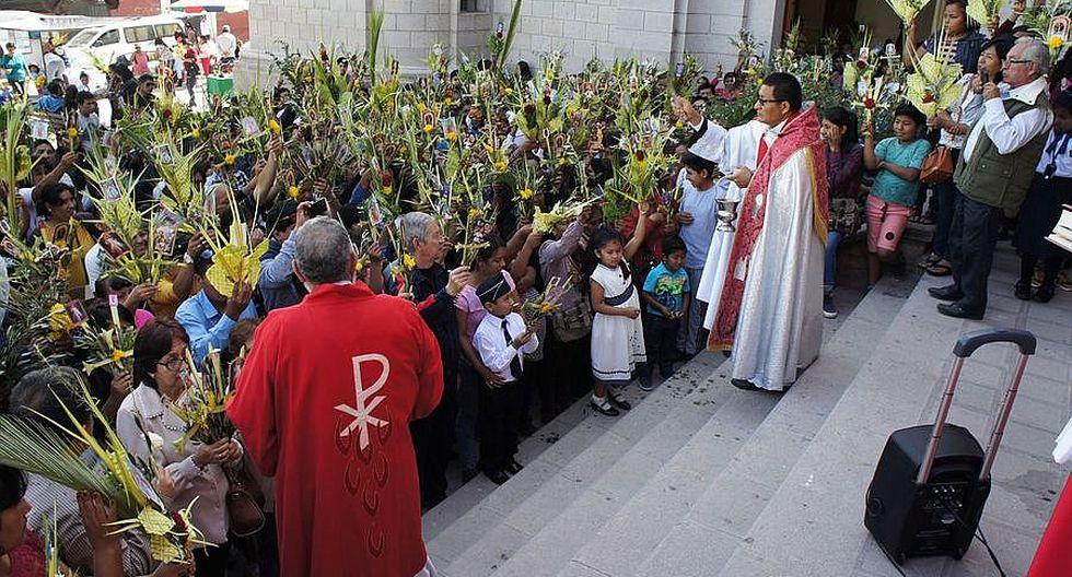 Semana Santa empezó con reflexión de Domingo de Ramos en Moquegua