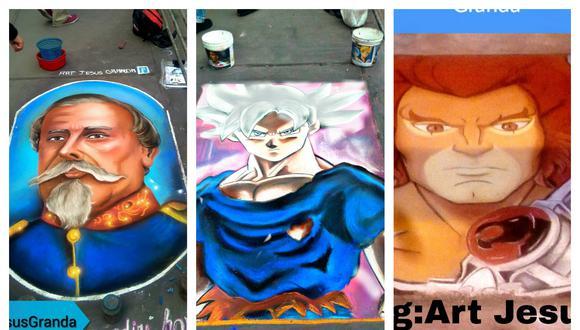 El artista se gana la vida realizando llamativas figuras en las calles de la capital (Facebook Jesús Granda)