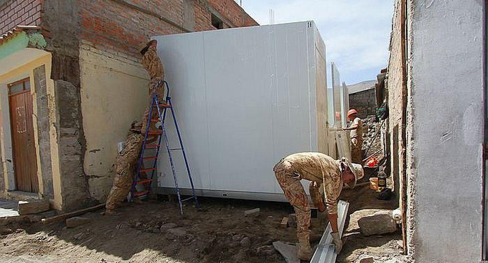 Arequipa: Soldados construirán casas refugio para proteger a las familias