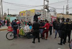 Decomisan mercadería a ambulantes de Chincha