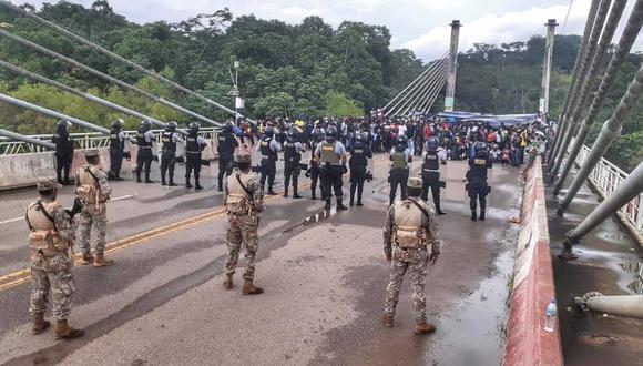 Madre de Dios: haitianos ingresaron, la mañana de hoy, por la fuerza a territorio peruano. (Foto: Difusión)