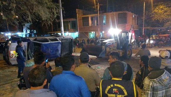 Piura: Seis heridos tras el vuelco de una camioneta del Serenazgo (VIDEO)