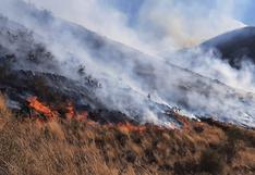 Incendio forestal continúa fuerte pese a combate aéreo y terrestre en Cusco (FOTOS)