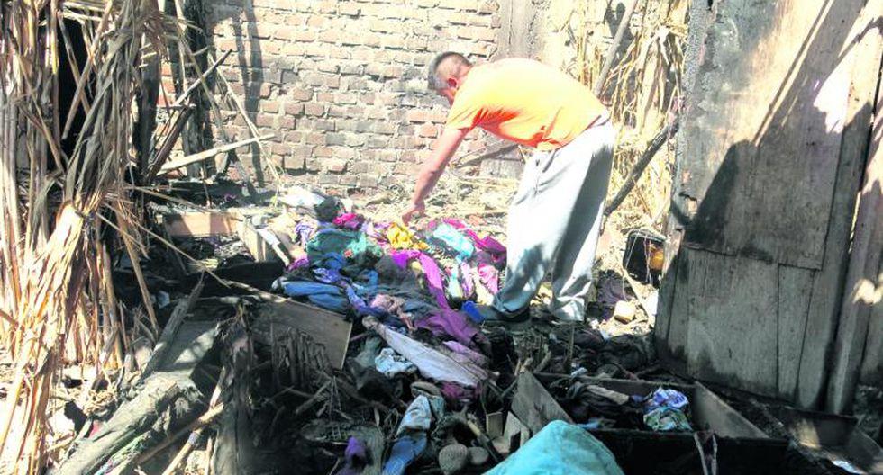 Incendio consume casa de tres familias