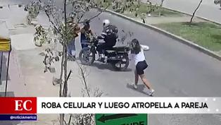 San Juan de Lurigancho: Hombre robó celular a su víctima y atropelló a pareja tras darse a la fuga