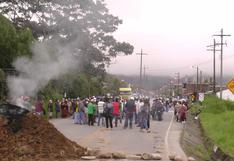 Carabaya: Pobladores de San Gabán bloquean carretera Interoceánica