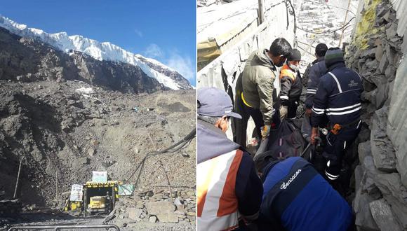 Ambos mineros se encontraban trabajando en el interior de la mina. (Foto: Difusión)