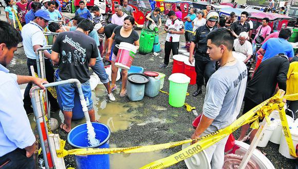 Sedapal evalúa no cobrar el recibo de agua de enero en San Juan de Lurigancho